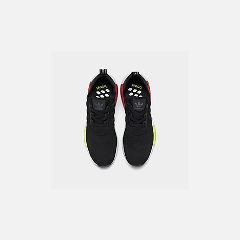 Back view of Men's adidas NMD Runner R1 Casual Shoes in Core Black/Core Black/Energy Pink