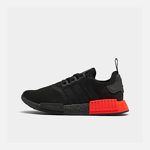 Right view of Men's adidas NMD Runner R1 Casual Shoes in Core Black/Core Black/Solar Red