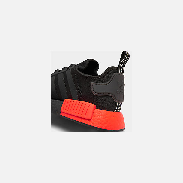Front view of Men's adidas NMD Runner R1 Casual Shoes in Core Black/Core Black/Solar Red