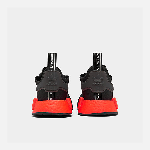 Left view of Men's adidas NMD Runner R1 Casual Shoes in Core Black/Core Black/Solar Red