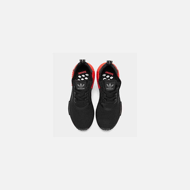 Back view of Men's adidas NMD Runner R1 Casual Shoes in Core Black/Core Black/Solar Red