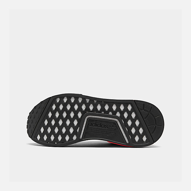 Bottom view of Men's adidas NMD Runner R1 Casual Shoes in Core Black/Core Black/Solar Red