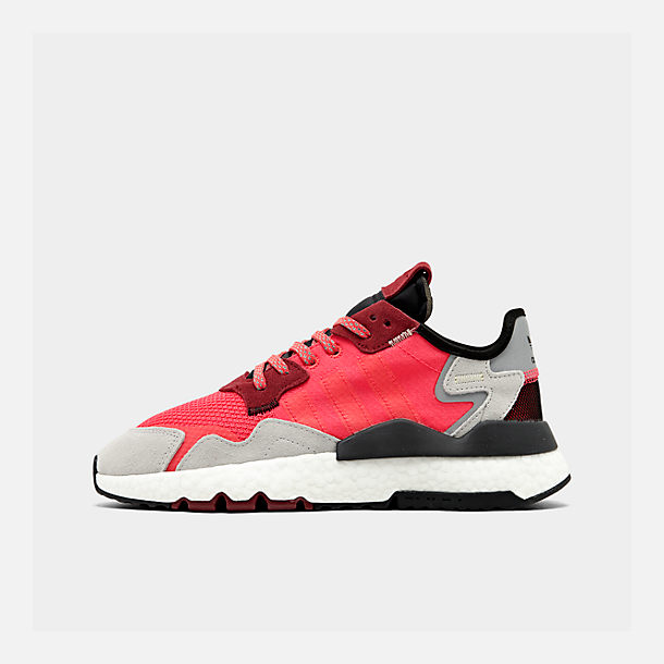Right view of Men's adidas Originals Nite Jogger Casual Shoes in Shock Red/Shock Red/Grey Two F17