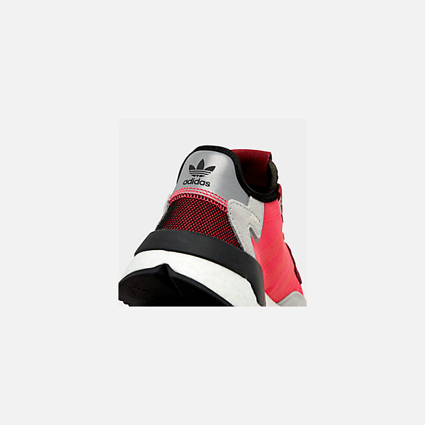 Front view of Men's adidas Originals Nite Jogger Casual Shoes in Shock Red/Shock Red/Grey Two F17