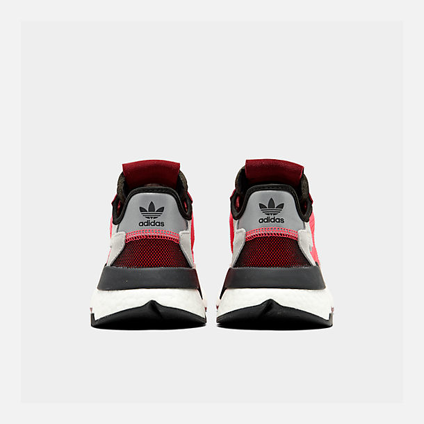 Left view of Men's adidas Originals Nite Jogger Casual Shoes in Shock Red/Shock Red/Grey Two F17