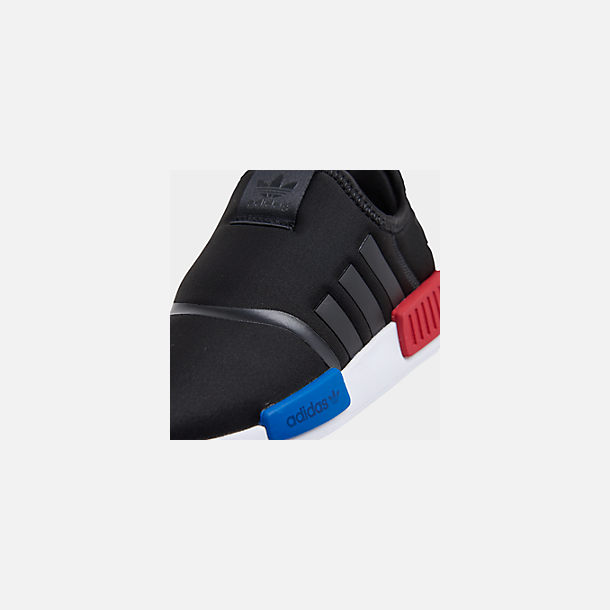 Front view of Boys' Little Kids' adidas Originals NMD 360 Casual Shoes in Core Black/Core Black/Footwear White