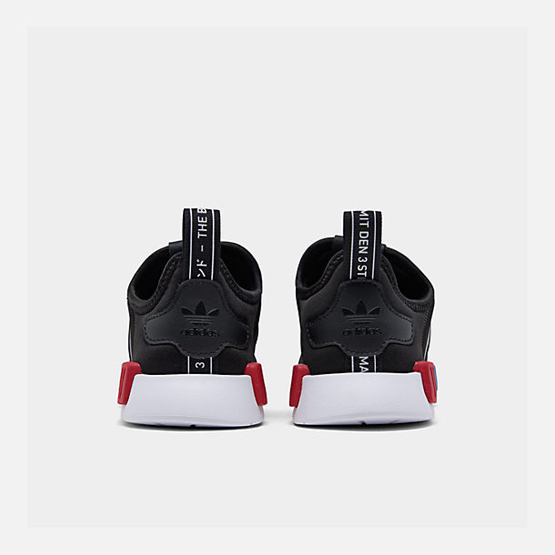 Left view of Boys' Little Kids' adidas Originals NMD 360 Casual Shoes in Core Black/Core Black/Footwear White