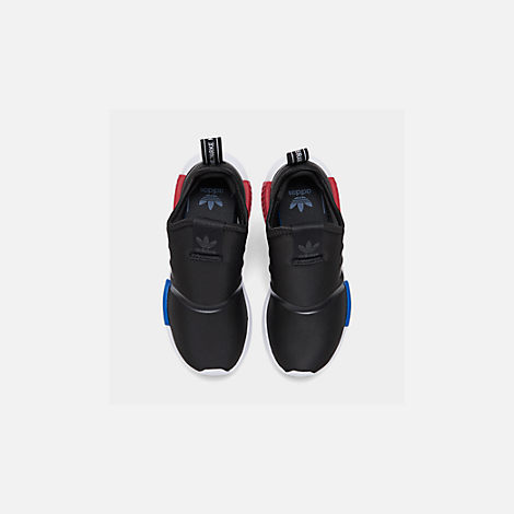 Back view of Boys' Little Kids' adidas Originals NMD 360 Casual Shoes in Core Black/Core Black/Footwear White