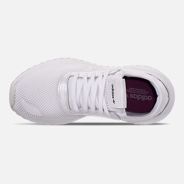 Top view of Women's adidas U_Path Run Casual Shoes in White/Purple Beauty/Core Black