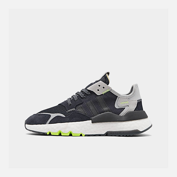 16674c0c09cf Right view of Big Kids  adidas Originals Nite Jogger Casual Shoes in  Navy Legend