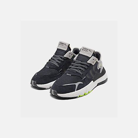 Three Quarter view of Big Kids' adidas Originals Nite Jogger Casual Shoes in Navy/Legend Ink/White