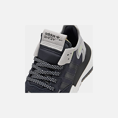 Front view of Big Kids' adidas Originals Nite Jogger Casual Shoes in Navy/Legend Ink/White