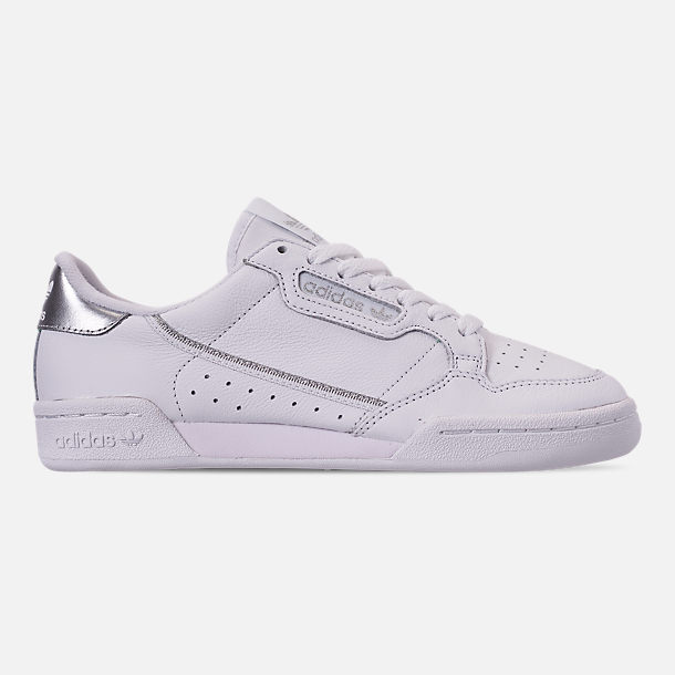 Right view of Women's adidas Originals Continental 80 Casual Shoes in Cloud White/Cloud White/Silver Metallic
