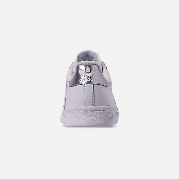 Back view of Women's adidas Originals Continental 80 Casual Shoes in Cloud White/Cloud White/Silver Metallic