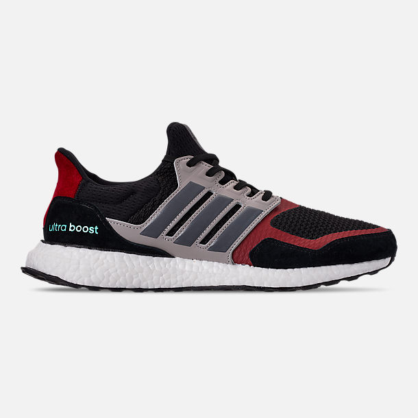 Right view of Men's adidas UltraBOOST S&L Running Shoes in Core Black/Grey Four/Power Red