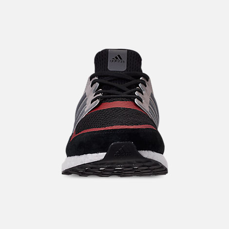 Front view of Men's adidas UltraBOOST S&L Running Shoes in Core Black/Grey Four/Power Red