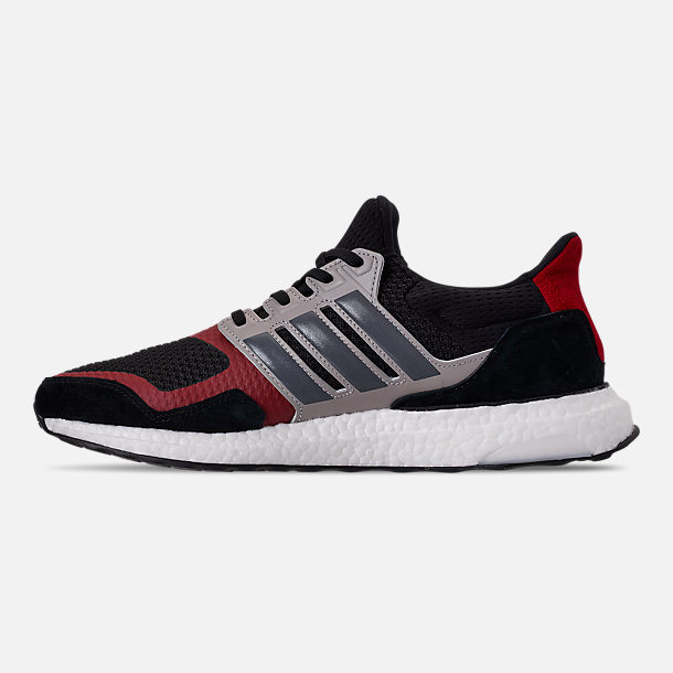 Left view of Men's adidas UltraBOOST S&L Running Shoes in Core Black/Grey Four/Power Red