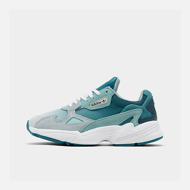 Right view of Women's adidas Originals Falcon Casual Shoes in Blue Tint/Light Aqua/Ash Grey