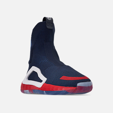 low priced f372e ab34e Three Quarter view of Men s adidas N3xt L3v3l X Marvel s Captain America  Basketball Shoes in Collegiate