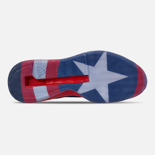 bd231ec29118 Bottom view of Men s adidas N3xt L3v3l X Marvel s Captain America  Basketball Shoes in Collegiate Navy