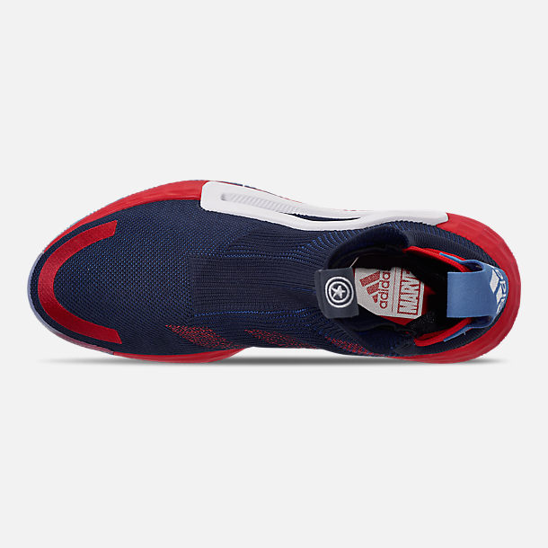 d58690b178ab Top view of Men s adidas N3xt L3v3l X Marvel s Captain America Basketball  Shoes in Collegiate Navy