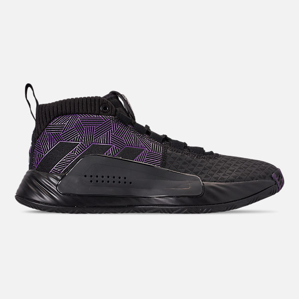 new style 9770e 0e183 Right view of Men s adidas Dame 5 X Marvel s Black Panther Basketball Shoes  in Core Black
