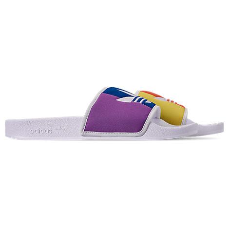 Adidas Originals Sandals MEN'S ADILETTE PRIDE SLIDE SANDALS, WHITE