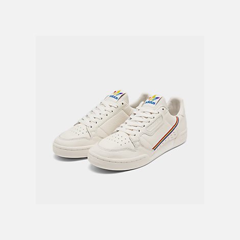 Three Quarter view of Men's adidas Originals Continental 80 Pride Casual Shoes in Blue Tint/Blue Tint/Blue Tint