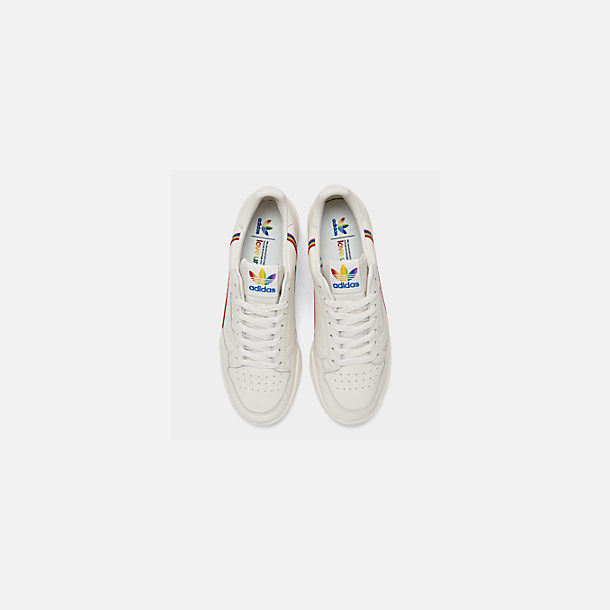 Back view of Men's adidas Originals Continental 80 Pride Casual Shoes in Blue Tint/Blue Tint/Blue Tint