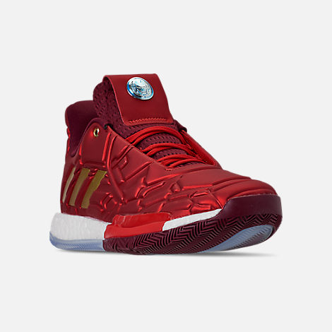 cheaper 89e10 3e325 Three Quarter view of Men s adidas Harden Vol.3 X Marvel s Iron Man  Basketball Shoes