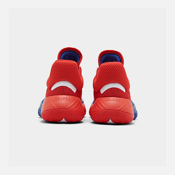 Left view of Men's adidas D.O.N. Issue #1 Basketball Shoes in Blue/Red/Footwear White