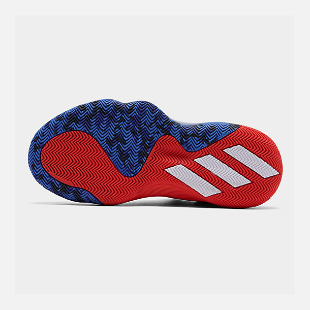 Bottom view of Men's adidas D.O.N. Issue #1 Basketball Shoes in Blue/Red/Footwear White