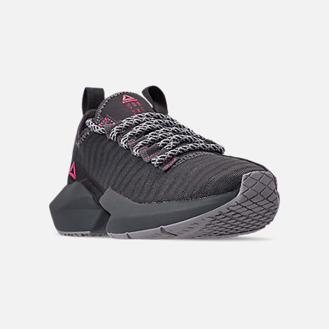 Three Quarter view of Women's Reebok Sole Fury SE Casual Shoes in Grey/Shadow/Pink