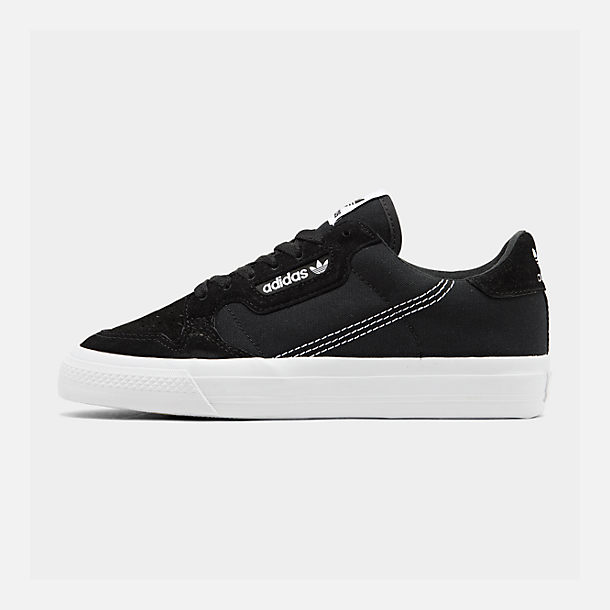 Right view of Men's adidas Originals Continental Vulc Casual Shoes in Core Black/Footwear White/Core Black