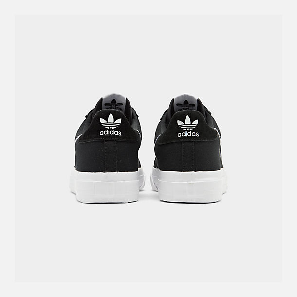 Left view of Men's adidas Originals Continental Vulc Casual Shoes in Core Black/Footwear White/Core Black