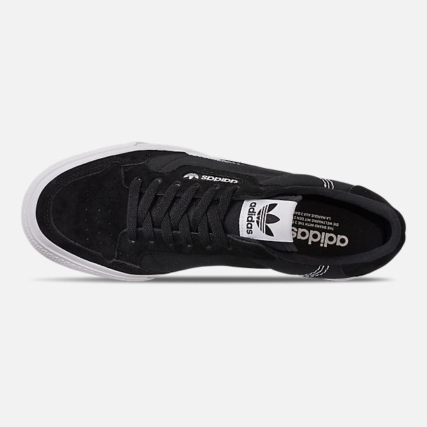 Top view of Men's adidas Originals Continental Vulc Casual Shoes in Core Black/Footwear White/Core Black