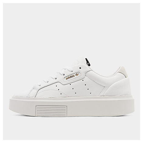 Adidas Originals Leathers WOMEN'S ORIGINALS SLEEK SUPER CASUAL SHOES, WHITE