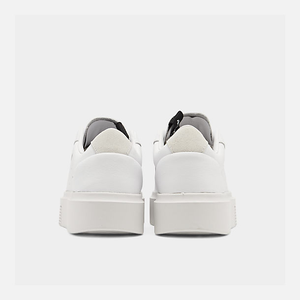 Left view of Women's adidas Originals Sleek Super Casual Shoes in White/Crystal White/Core Black
