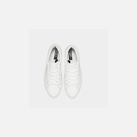Back view of Women's adidas Originals Sleek Super Casual Shoes in White/Crystal White/Core Black