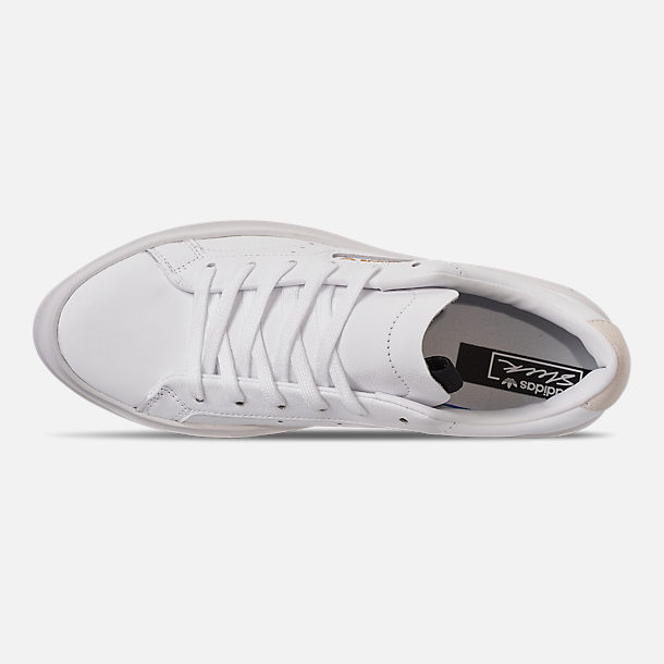 Top view of Women's adidas Originals Sleek Super Casual Shoes in White/Crystal White/Core Black