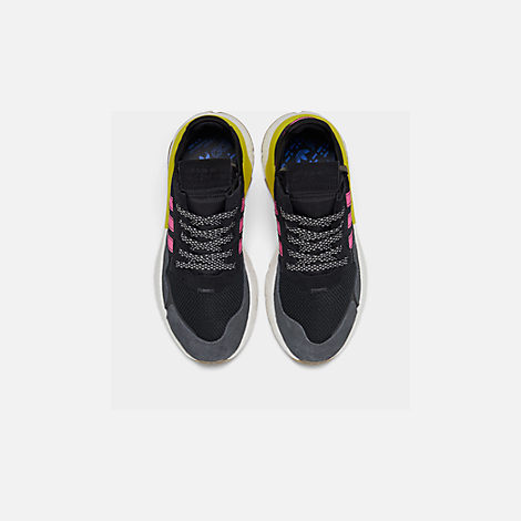 Back view of Men's adidas Originals Nite Jogger Casual Shoes in Corre Black/Shock Pink/Gum