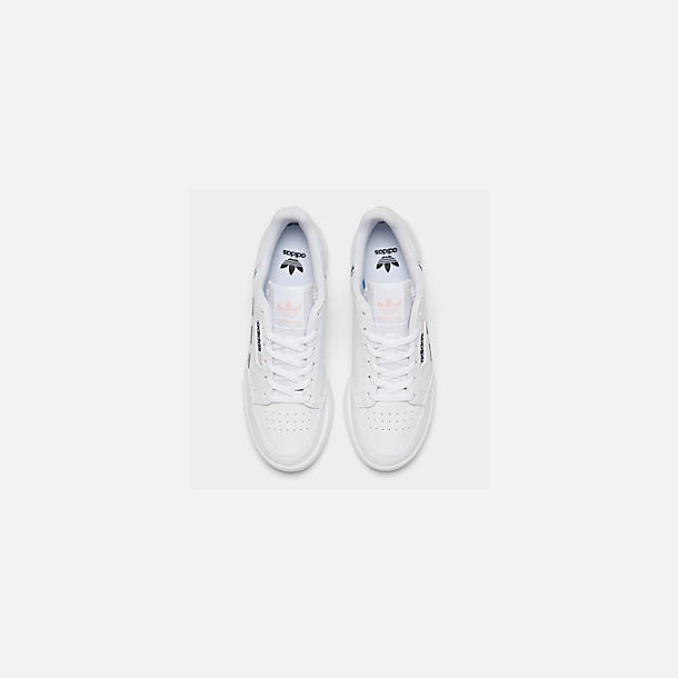 Back view of Girls' Big Kids' adidas Originals Continental 80 Casual Shoes in White/Pink/Mixtape Pack