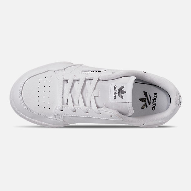 Top view of Little Kids' adidas Originals Continental 80 Casual Shoes in White/Black/Grey Mixtape