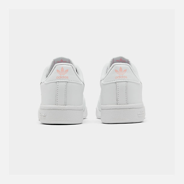Left view of Girls' Little Kids' adidas Continental 80 Casual Shoes in White