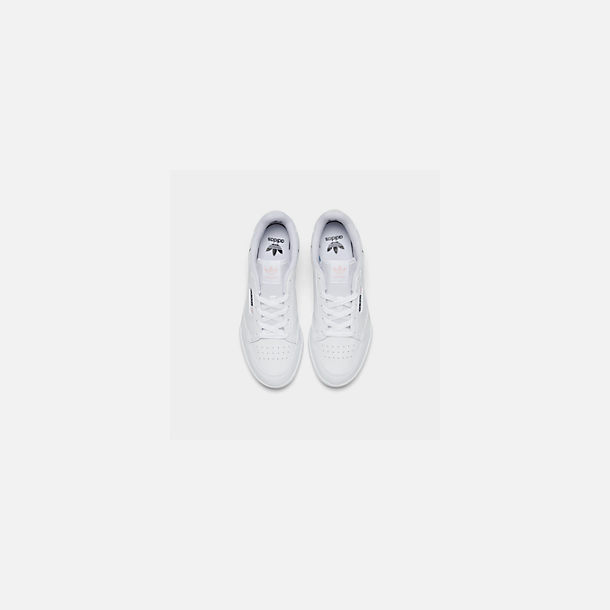 Back view of Girls' Little Kids' adidas Continental 80 Casual Shoes in White