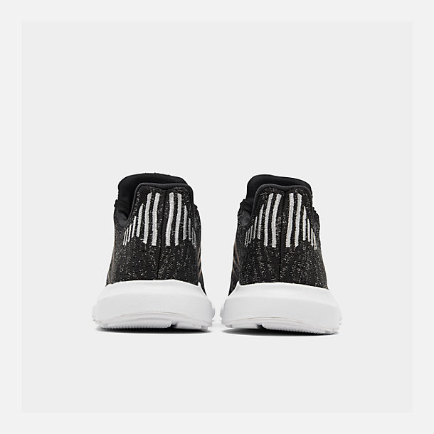 Left view of Women's adidas Swift Run Casual Shoes in Core Black/Silver Metallic/Footwear White
