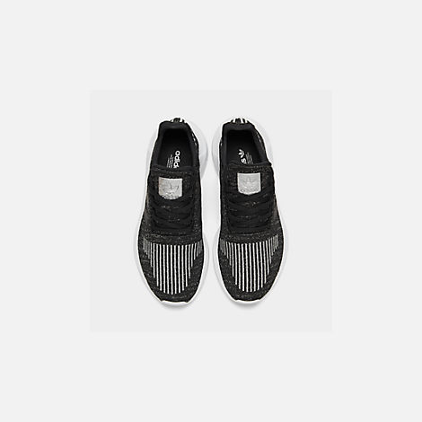 Back view of Women's adidas Swift Run Casual Shoes in Core Black/Silver Metallic/Footwear White