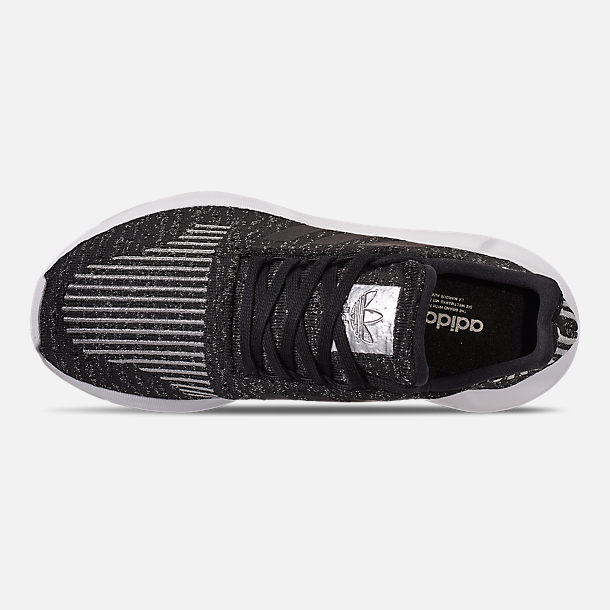 Top view of Women's adidas Swift Run Casual Shoes in Core Black/Silver Metallic/Footwear White