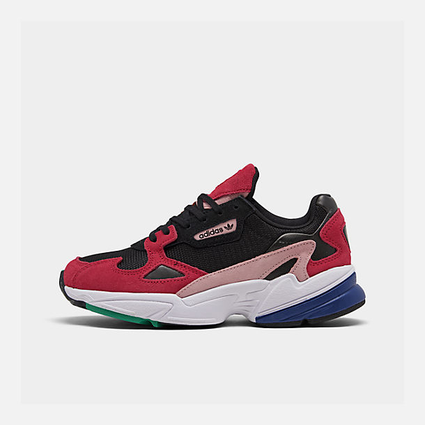 Right view of Women's adidas Originals Falcon Casual Shoes in Black/Energy Pink/White