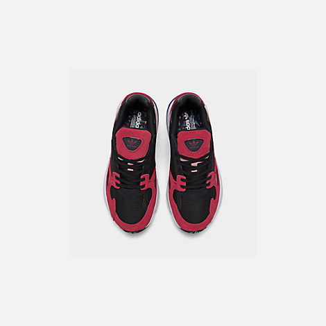 Back view of Women's adidas Originals Falcon Casual Shoes in Black/Energy Pink/White
